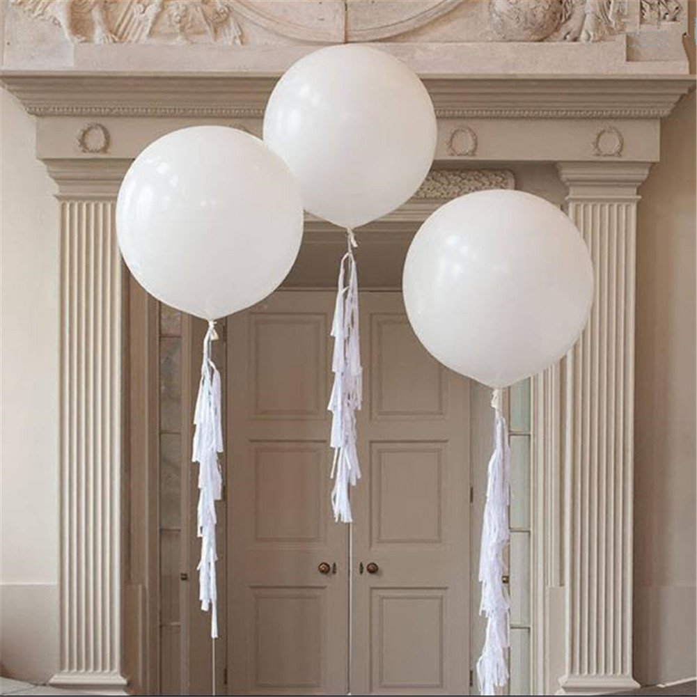 Dr. JONY Giant Balloons 36-Inch white balloons (Premium Helium Quality) Pkg/6 , for Birthdays Wedding Photo Shoot and Festivals Christmas and Event Decorations B07BPY25NZ