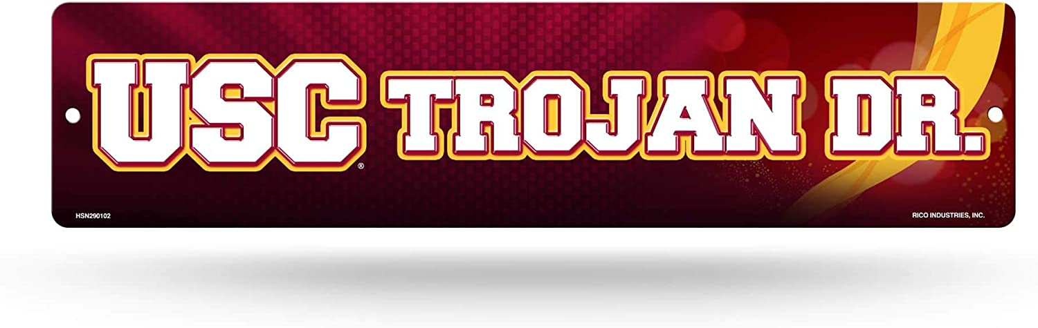 NCAA Rico Industries 16-Inch Plastic Street Sign Décor, USC Trojans