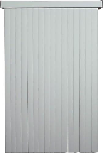 White WoodLook Textured Vinyl Vertical Blind