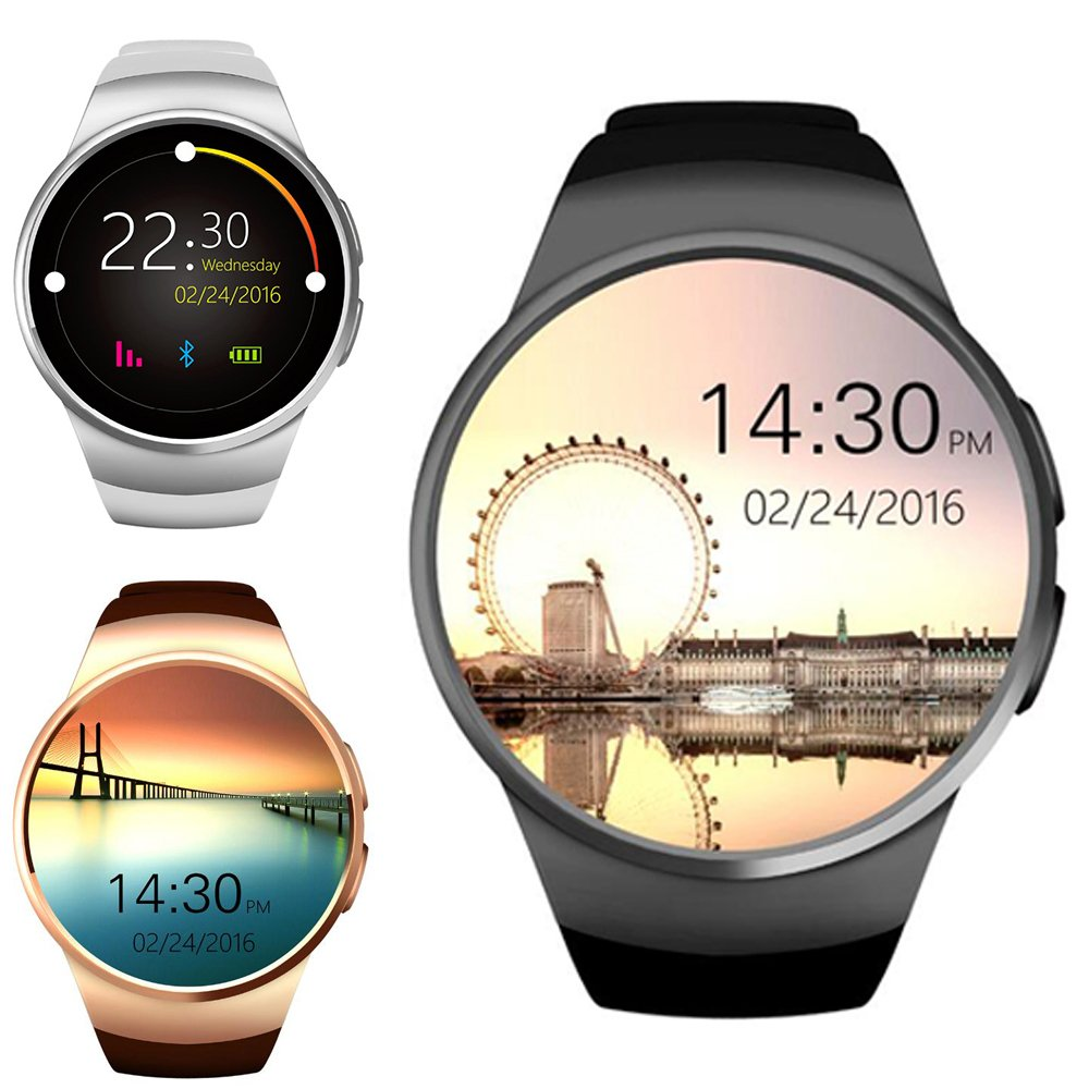 Amazon.com: KW18 Bluetooth smart watch full screen Support ...
