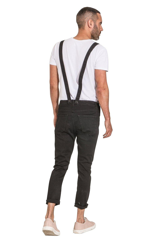 abee4d73e9 YES DESIGN Peto Vaquero Hombre - Slim Fit - Negro Peto Amovible  THEOBLACK-36W  Amazon.es  Ropa y accesorios