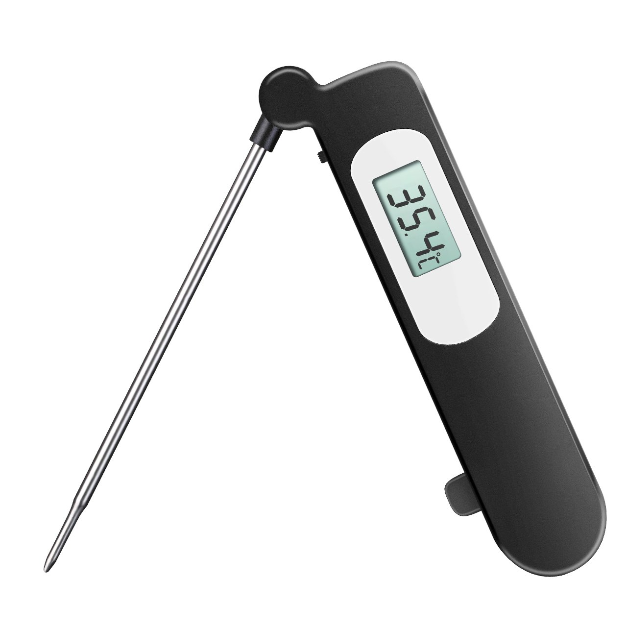 Topelek CP3-GDUK Digital Cooking Thermometer, Stainless, Long Probe, LCD Screen, with Instant Read