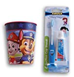 Pup Patrol Marshall Chase Rubble Tooth Brushing Kit - Toothbrush, Toothpaste, and Rinsing Cup