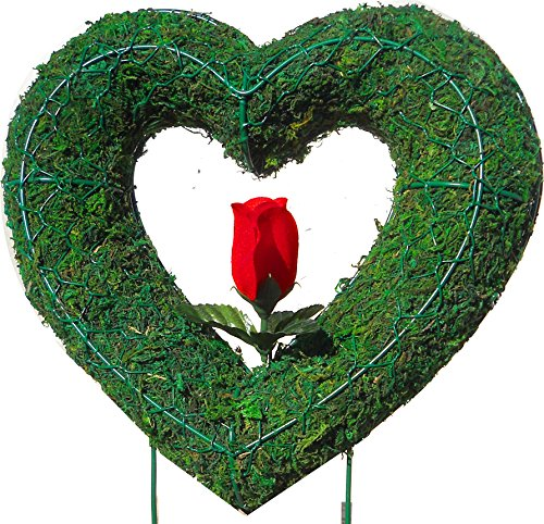 Heart 16 inches high w/ Moss Topiary Frame , Handmade Animal Decoration