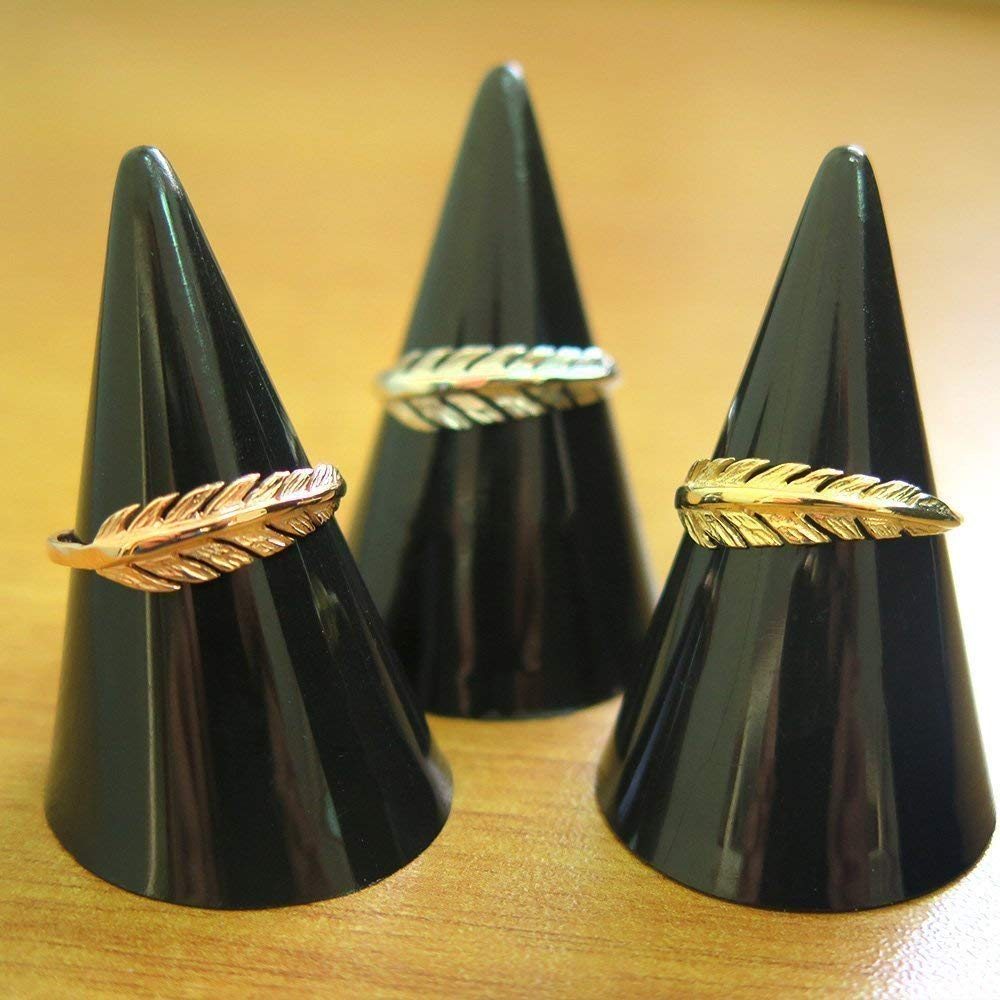 14k Solid Gold Feather Ring Size