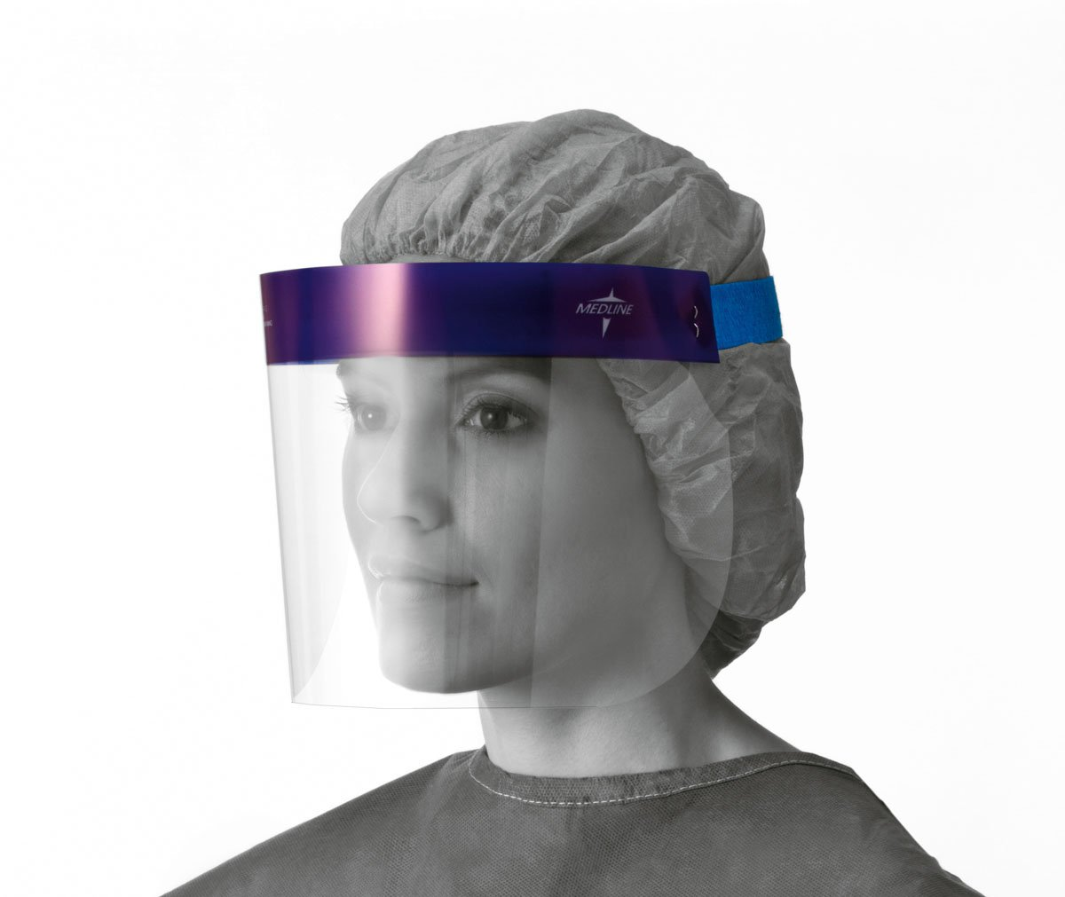 Medline NONFS400 Face Shields with Foam Top, Disposable, Latex Free, 3/4'' Length (Pack of 96)