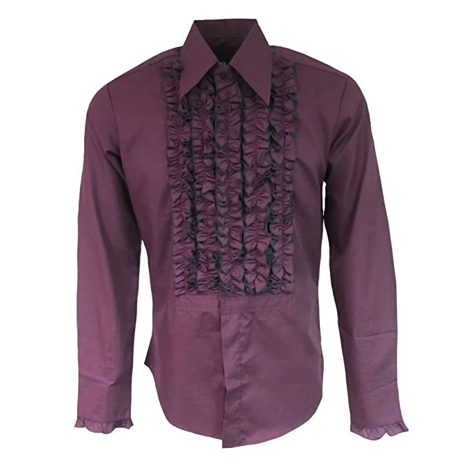 Vintage Shirts – Mens – Retro Shirts Chenaski Mens Ruffle Ruche Frill Dinner Tuxedo 70s Shirt £39.95 AT vintagedancer.com