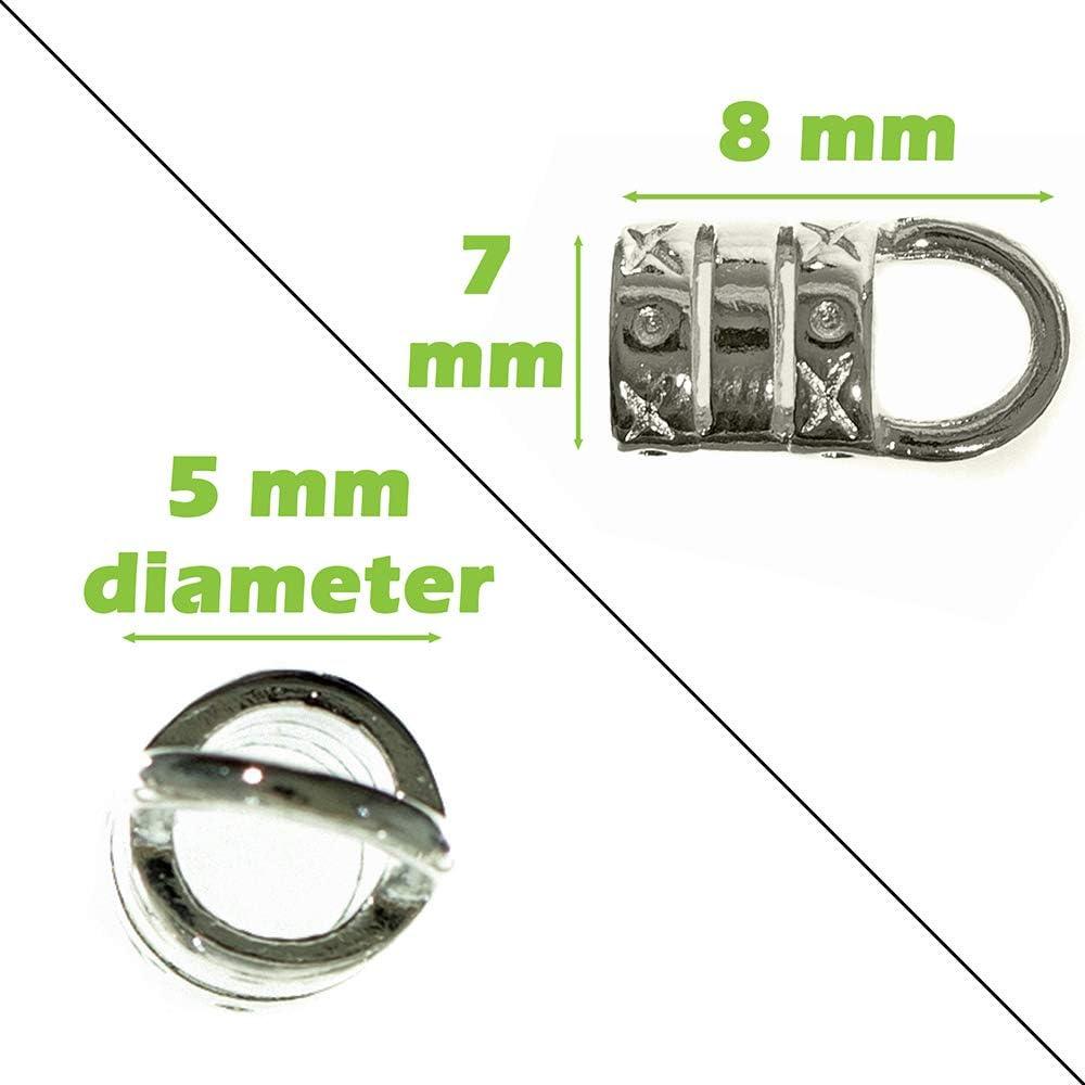 24 Crimp End Cap Gold Plate 5.4mm Tube 4.5mm Ring