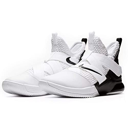 buy popular b1eae c38bb Nike Zoom Lebron Soldier XII TB Basketball Shoes (White Black, M5W65)