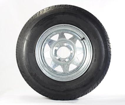 Amazon Com 175 80d13 Trailer Tire With 13 Galvanized Spoke Rim