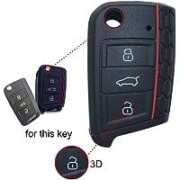 wabenförmig silicona Key Cover Case Carcasa Seat Llave