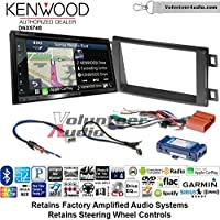 Volunteer Audio Kenwood DNX574S Double Din Radio Install Kit with GPS Navigation Apple CarPlay Android Auto Fits 2014-2016 Mazda CX-5