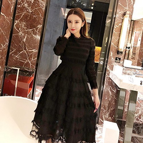 92c9714a0bde Wanglele Spring And Summer Cake Skirt Spring And Summer Fairy Cake Skirt Dress  Female Primer Spring And Summer Multi-Level Long-Sleeved High Waist Puff