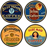 Vintage Coffee Lables Absorbent Coasters