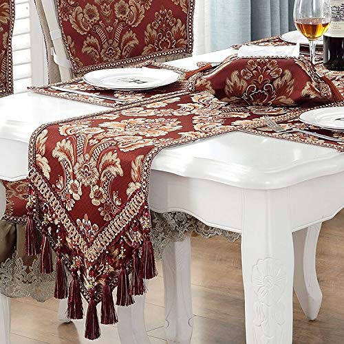 Queen's House 高級テーブルランナー Table runner 12x118 レッド 181031-burgundy-runner-118 Table runner 12x118 バーガンディー B07K235YK9