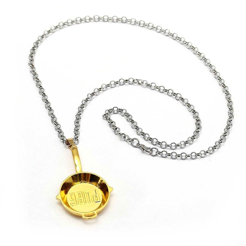 HANDMADE JEWELLERY PUBG Metal Necklace Pan Pendant