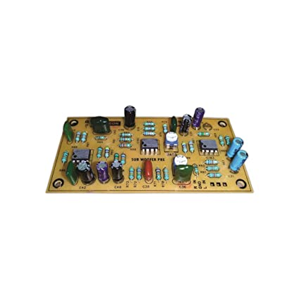 WEON Sub Woofer Pre Amp Board KIT with Triple ICS, BASS Depth Control, Wide  Bass, Upto 5X Gain