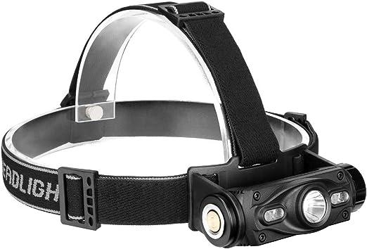 Linterna frontal LED resistente al agua, cargador USB ...