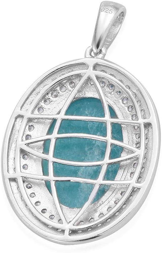 12 ct Cambodian Zircon Halo Pendant TJC Womens 925 Sterling Silver Platinum Plated Brazillian ite