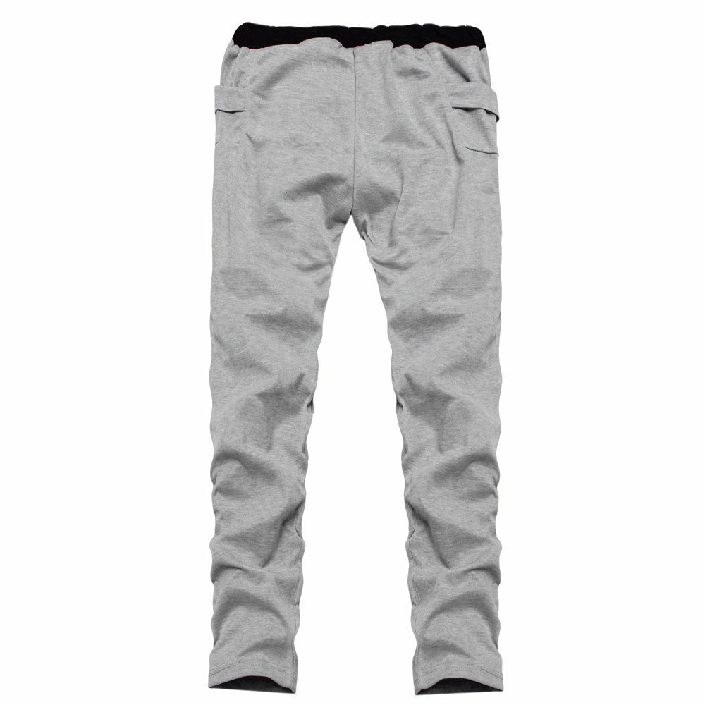 TnaIolral Mens Pants Casual Trunks Sweatpants Trousers Gray by TnaIolral (Image #3)