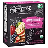 Organic Slammers Superfood Snack Awesome Fruit & Veggie Pouches 3.17oz x4 pk ( total 12.68oz)
