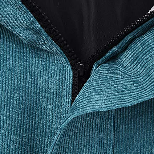 Extragrande Mujer Abrigos del Abrigo CICIYONER de la Remiendo del Rompevientos Chaqueta Capa de Azul la Invierno qpIAWw5