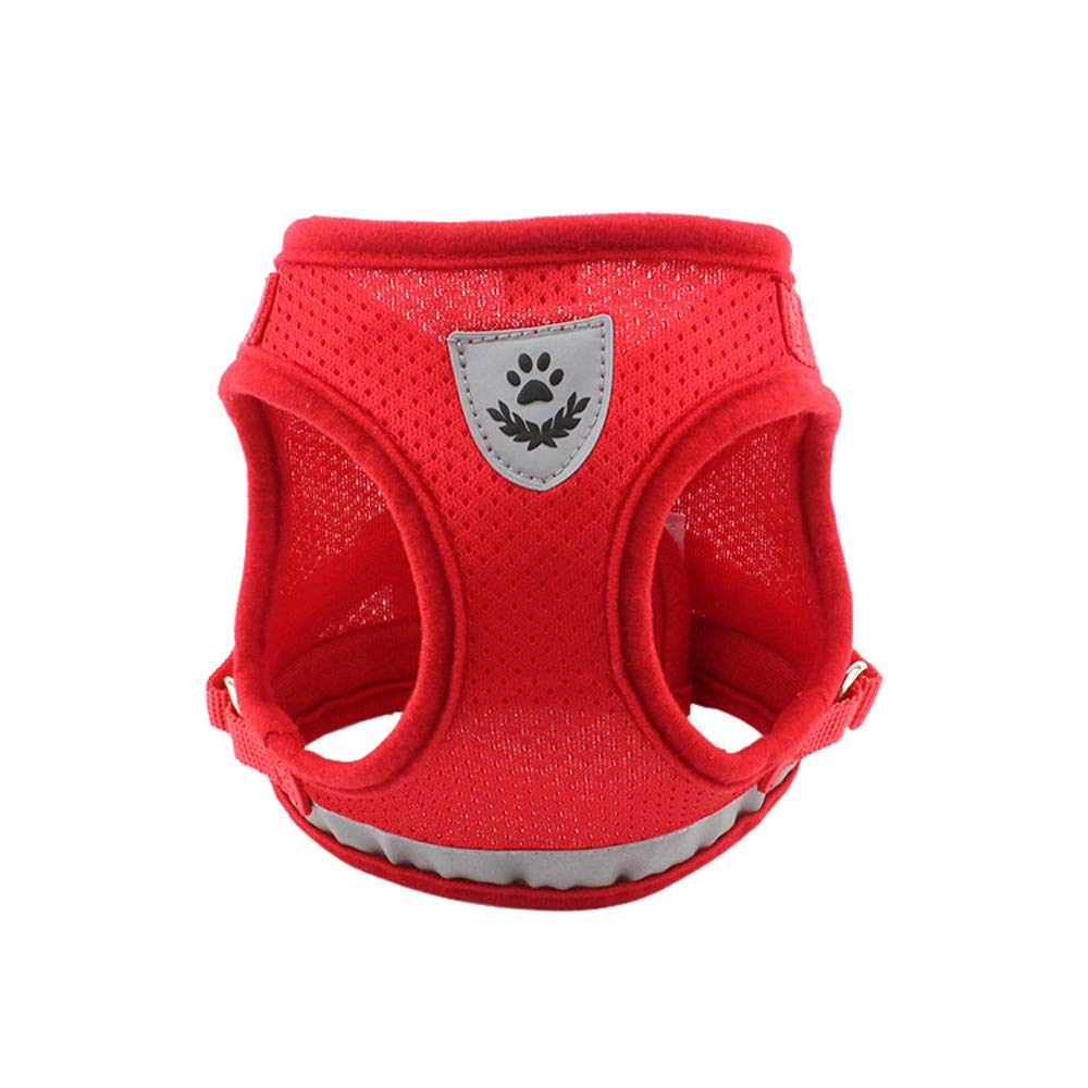 Dog Harness Step-in Mesh Dog Puppy Vest Harness with Leash for Small Dogs Chihuahua Yorkies Blue