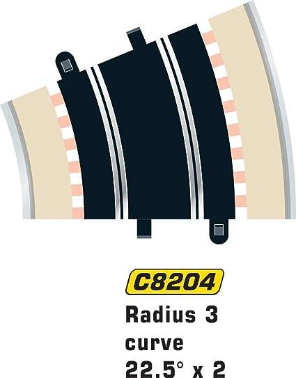 UV SCALEXTRIC 1:32 C8234 RADIUS 2 CURVE 22.5° 6 PACKS CONTAINING 2 PIECES