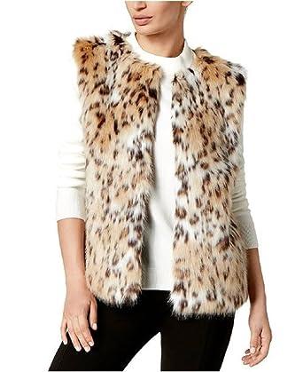 888d09640fa8 INC International Concepts Women's Beige Faux Fur Leopard Print ...