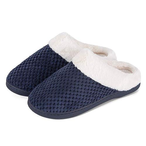 Minetom Zapatillas De Estar por Casa Mujer Hombre Interior Al Aire Libre Unisexo Slipper Cómodo Antideslizante Zapatos Planos De Invierno: Amazon.es: ...