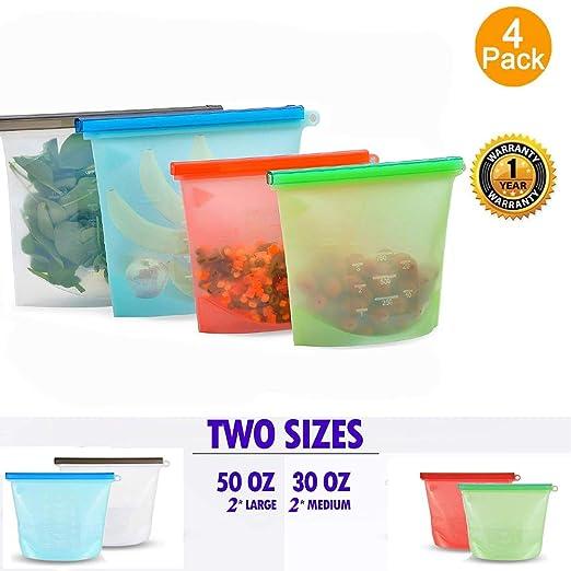 Bolsas reutilizables de silicona Eco almacenamiento de ...