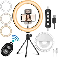 Deals on Mansso 10-inch LED Ring Light Set