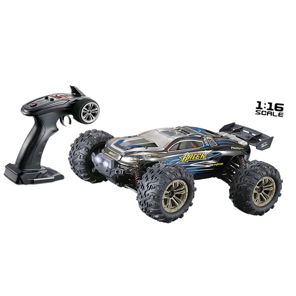 Fenteer 2.4GHz 4WD RC Auto Rock Crawler di Vibrazione Bambini Robot RC Auto Giocattoli per Regali - Blu-1