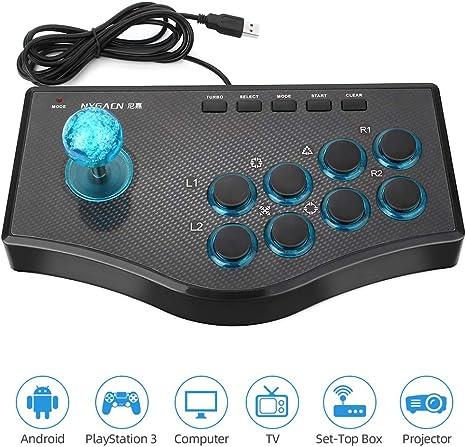 Powcan Controlador de juegos USBControlador de juegos móvil con cable de 2.2M con 12 botones analógicos para PS3 / Smart TV / teléfono Android / PC (Windows 2000 / XP / Vista / 7/8/10): Amazon.es: Videojuegos