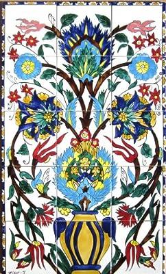 Amazon Com Decorative Ceramic Tiles Hand Painted Mosaic Murals