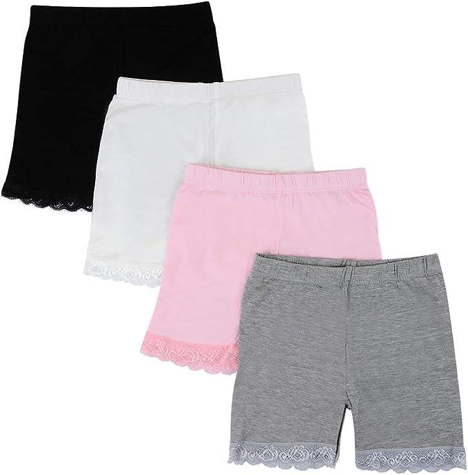 Kidear 3-12 años para niños Comodidad Ropa Interior Transpirable Vestido de Color sólido Pantalones Cortos Safety Boyshort Panties Multi-Pack: Amazon.es: Ropa y accesorios