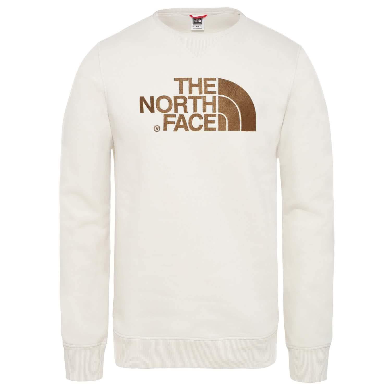 Vintage blanc L The North Face M Drew Peak Crew Sweatshirt Homme