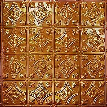 Pattern 3 Tin Tile Backsplash Kit Rustic Copper Translucent