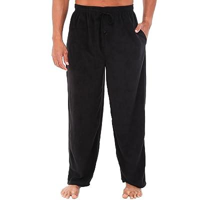 Alexander Del Rossa Men's Warm Fleece Pajama Pants, Long Lounge Bottoms at Men's Clothing store