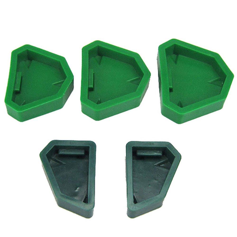 Melleco Silicone Rubber Base Molds 5pcs/Set Dental Lab Plaster Model Former by Melleco (Image #1)