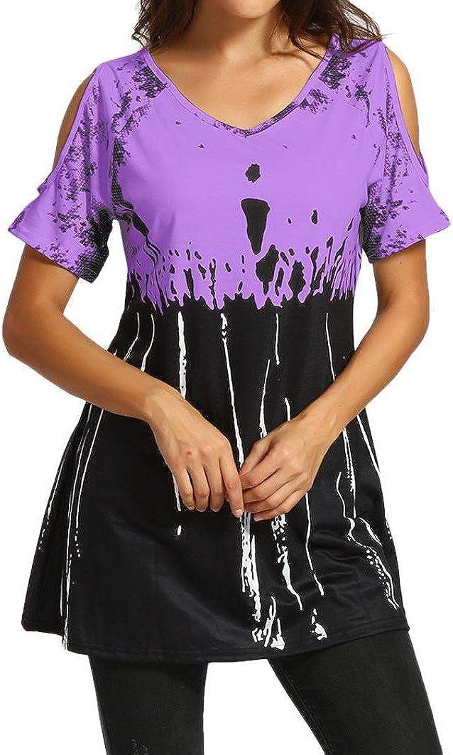 Hauts d/ét/é YUYOUG Femme Chic /Ét/é Manches Ouvertes L/âche Chemisiers Haut Blouse T-Shirt Tunique
