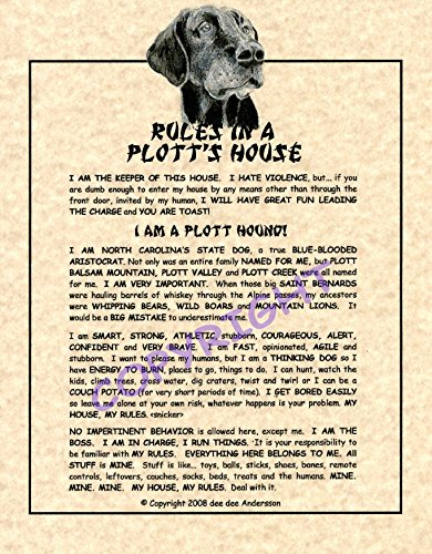 (Rules In A Plott Hound's House)