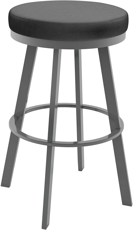 Amisco Swice Swivel Metal Counter Stool 26 Inch Magnetite Furniture Decor Amazon Com