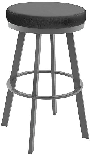 amisco swice swivel metal counter stool 26inch magnetite
