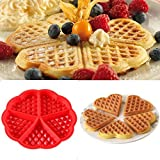 Custom Extra 2017 Kitchen Silicone Mini Round Waffles Pan Cake Baking Mould Mold Waffle Tray 73