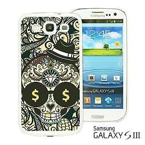 OnlineBestDigital - Skull Pattern Hardback Case for Samsung Galaxy S3 III I9300 - Skull with Paisley Background