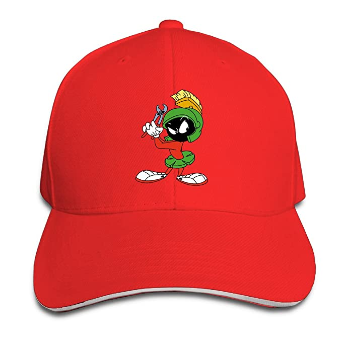 Visor Marvin The Martian Spirit Mars Rover Bugs Bunny Baseball Caps Red  Sandwich Peaked Cap 371ecd47e4