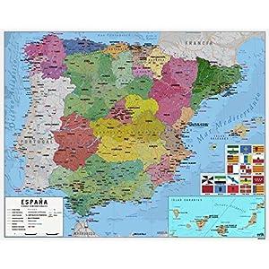 Grupo Erik Editores MPGE0219 – Mini póster mapa de España, 40 x 50 cm