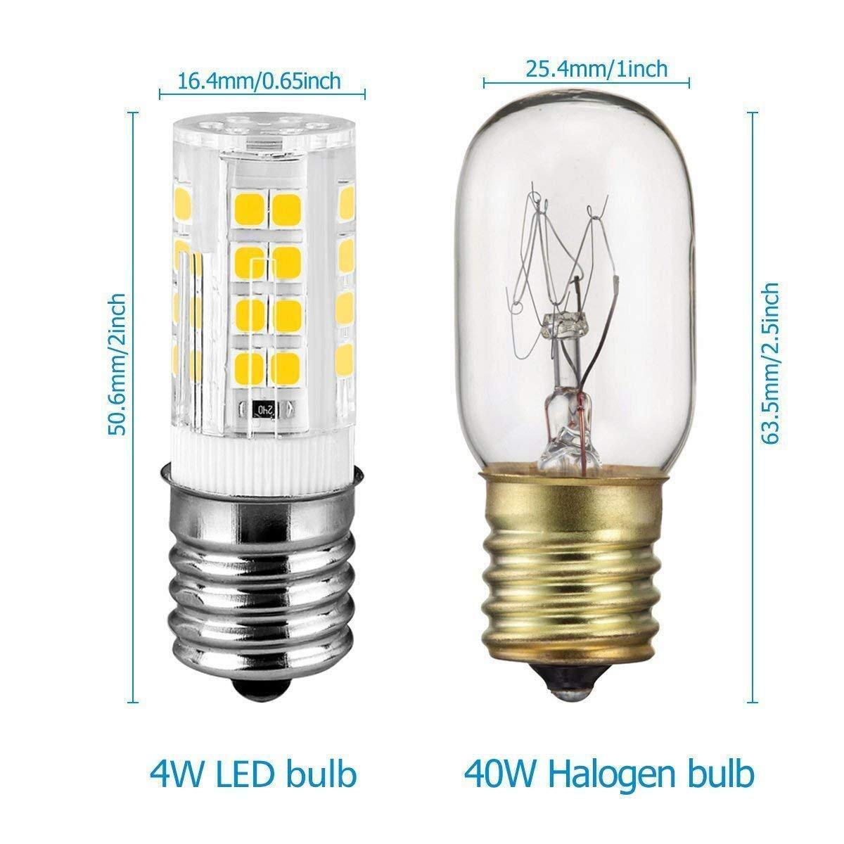 E17 Bombilla LED para horno de microondas, equivalente a ...