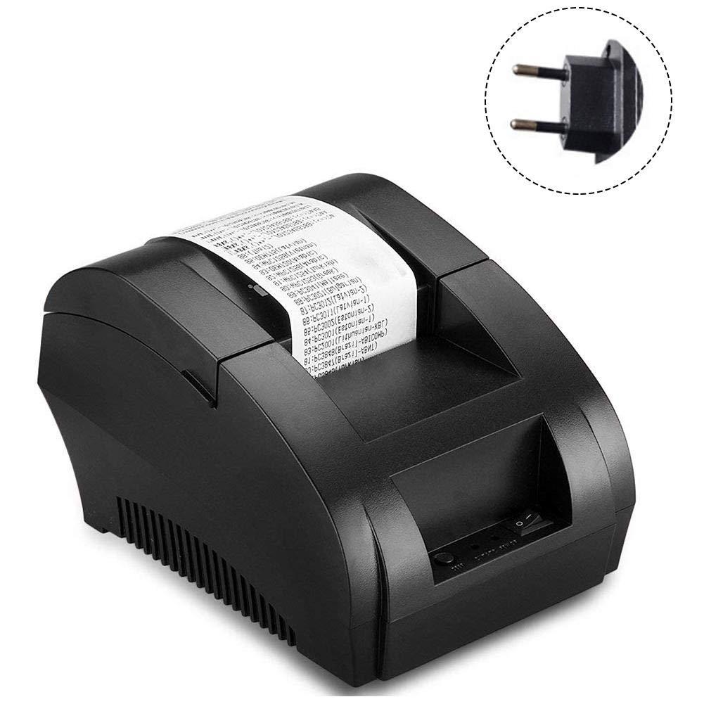 LLDHWX USB 58mm Thermo-Hot-Bondrucker, tragbarer Mini-Etikettendrucker, kompatibel mit ESC- / POS-Druckbefehlen Set Speed 90mm Jede Sekunde Hohe Geschwindigkeit fü r kleine Unternehmen
